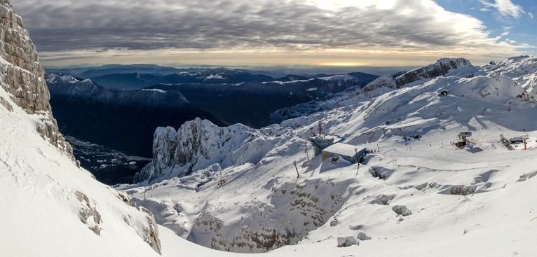 Ski Italy-Slovenia border