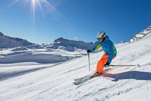 Spring Skiing blue sky
