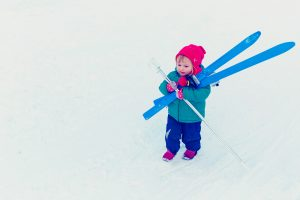 Carrying skis or ski hire