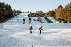 The UK's dry ski slopes; artificial snow fun